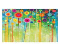 Abstract Art Dandelion Doormat