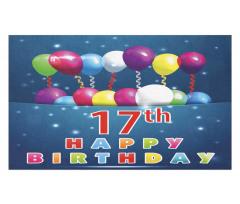 17 Birthday Doormat