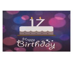 17 Party Cake Doormat