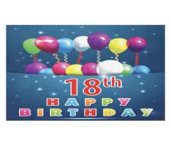 18 Birthday Balloons Doormat