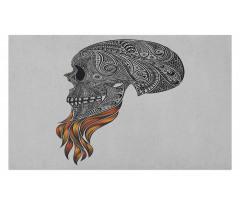 Abstract Art Skull Beard Doormat
