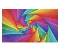 Abstract Art Vivid Swirl Doormat