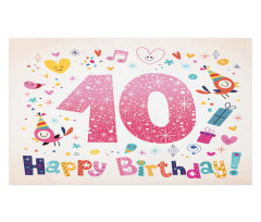 10 Years Kids Birthday Doormat