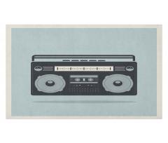 1980s Boombox Image Doormat