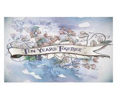 10 Years Floral Art Doormat