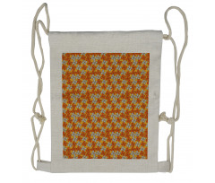 Abstract Autumn Flora Drawstring Backpack