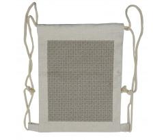Abstract Art Grid Drawstring Backpack