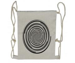Abstract Art Spirals Drawstring Backpack