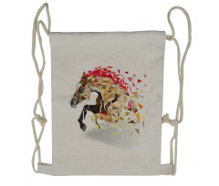 Abstract Art Wild Horse Drawstring Backpack