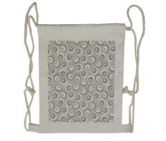 Abstract Art Modern Drawstring Backpack
