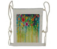 Abstract Art Dandelion Drawstring Backpack