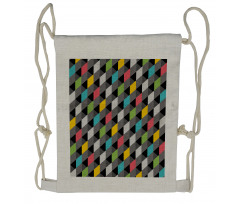 Abstract Art Style Drawstring Backpack