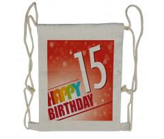 15th Birthday Concept Drawstring Backpack