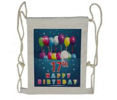 17 Birthday Drawstring Backpack
