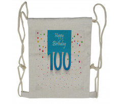 100 Years Birthday Drawstring Backpack