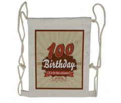 100 Old Party Invite Drawstring Backpack