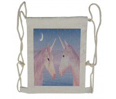 2 Akhal Teke Unicorns Drawstring Backpack