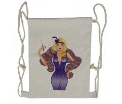 1930s Style Blondie Drawstring Backpack