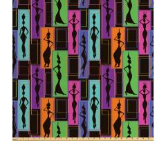 Etnik Parça Kumaş Afrikalı Kadınlar
