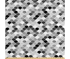 Asya Saten Parça Kumaş Squama Tarzı Geleneksel Süslemeli Sade Görsel