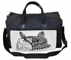 2 Animal Faces Design Gym Bag