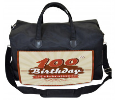 100 Old Party Invite Gym Bag
