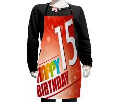 15th Birthday Concept Kids Apron