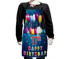 17 Birthday Kids Apron