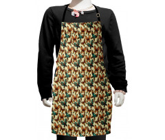 Abstract Art Wings Kids Apron