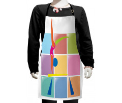 Abstract Athlete Kids Apron
