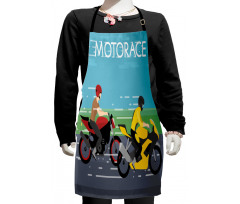 2 Bikers Racing Kids Apron
