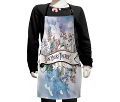 10 Years Floral Art Kids Apron