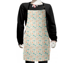 Abstract Art Floral Doodle Kids Apron