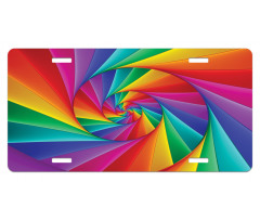 Abstract Art Vivid Swirl License Plate