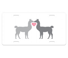 2 Animals in Love License Plate
