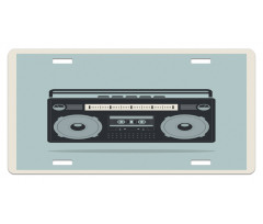 1980s Boombox Image License Plate