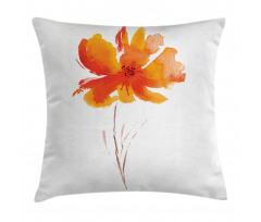 Romantic Poppy Pillow Cover
