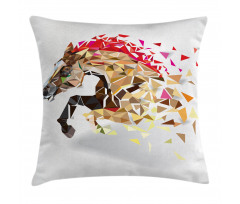 Abstract Art Wild Horse Pillow Cover