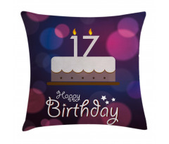 17 Party Cake Pillow Cover