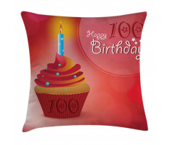 100 Old Cupcake Pillow Cover