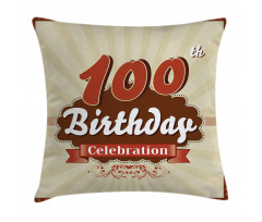 100 Old Party Invite Pillow Cover