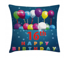 16 Party Pillow Cover
