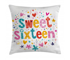 16 Blossoms Pillow Cover