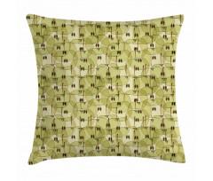 Abstract Autumn Garden Pillow Cover