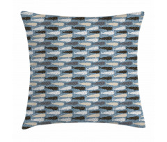 Abstract Art Silhouettes Pillow Cover