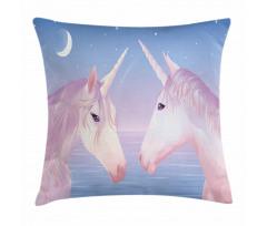 2 Akhal Teke Unicorns Pillow Cover