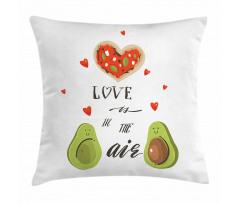 Avokado Minder Kılıfı Birbirlerine Aşık İki Sağlıklı Meyve Çift