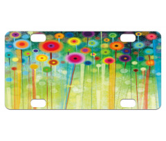 Abstract Art Dandelion Mini License Plate