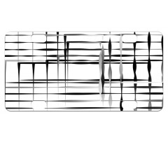 Abstract Art Geometric Mini License Plate