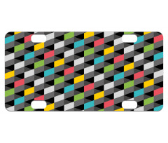 Abstract Art Style Mini License Plate